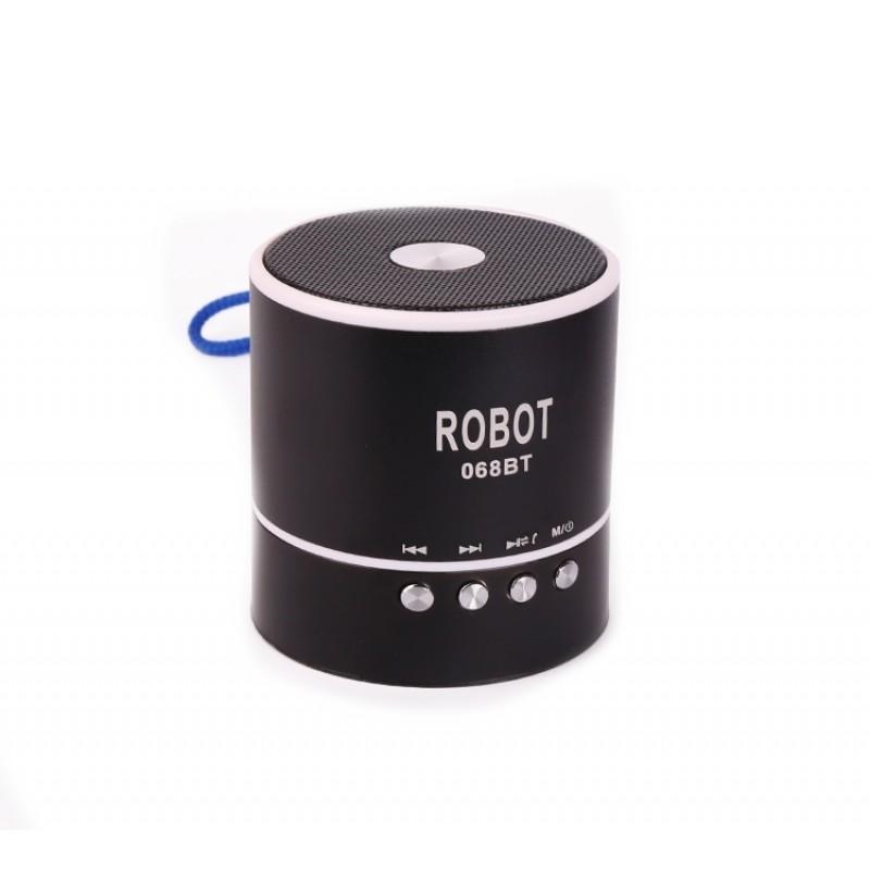 Φορητό Bluetooth ψηφιακό ραδιόφωνο - speaker usb / tf / line in / με εσωτερική μπαταρία Robot-068BT extra loud μαύρο OEM Ραδιοφωνάκια ee3430