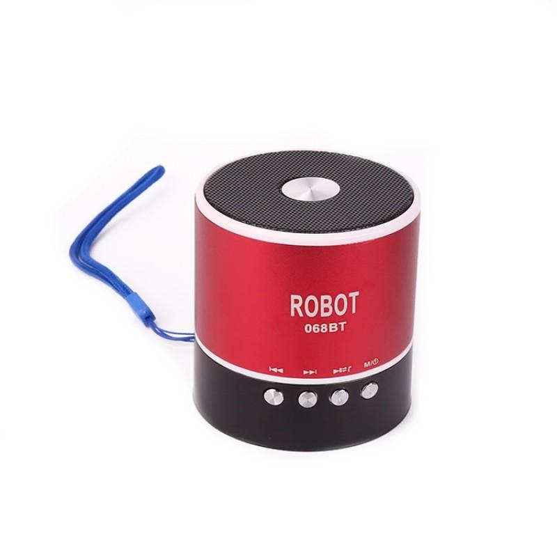 Φορητό Bluetooth ψηφιακό ραδιόφωνο - speaker usb / tf / line in / με εσωτερική μπαταρία Robot-068BT extra loud βυσσινί OEM Ραδιοφωνάκια ee3434