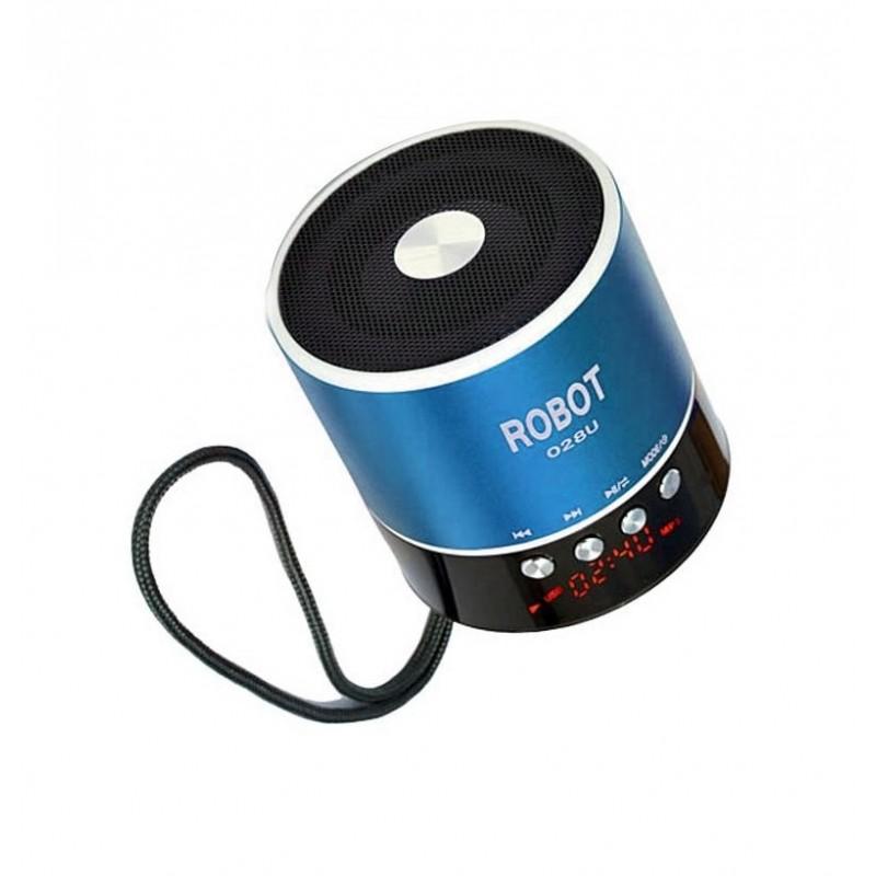 Φορητό ραδιοφωνάκι ψηφιακό usb/tf/line in/ με εσωτερική μπαταρία Robot-028u extra loud γαλάζιο OEM Ραδιοφωνάκια ee3436