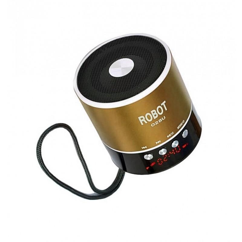 Φορητό ραδιοφωνάκι ψηφιακό usb/tf/line in/ με εσωτερική μπαταρία Robot-028u extra loud χρυσό OEM Ραδιοφωνάκια ee3437