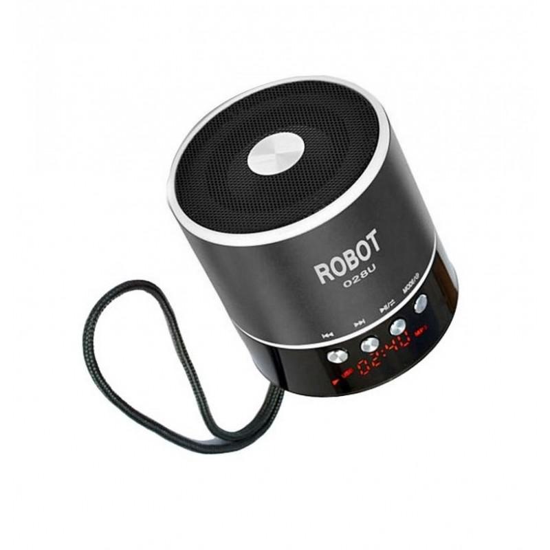 Φορητό ραδιοφωνάκι ψηφιακό usb/tf/line in/ με εσωτερική μπαταρία Robot-028u extra loud μαύρο OEM Ραδιοφωνάκια ee3438