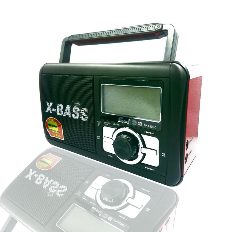 Φορητό ραδιόφωνο ψηφιακό ρολόι Recorder USB / SD card FP-920RC κόκκινο OEM Ραδιοφωνάκια ee3602