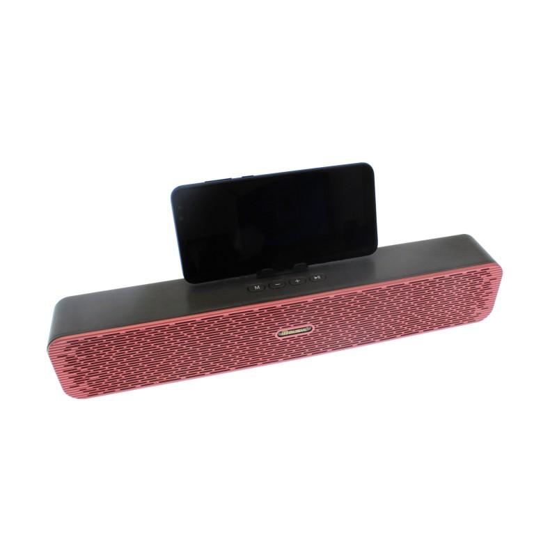 Ασύρματο φορητό ηχείο bluetooth wireless με ραδιόφωνο κόκκινο/μαύρο MU-608 MUSYL