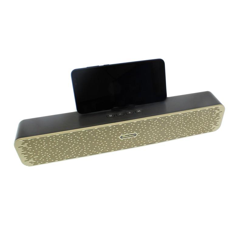 Ασύρματο φορητό ηχείο bluetooth wireless με ραδιόφωνο χρυσό/μαύρο MU-608 MUSYL