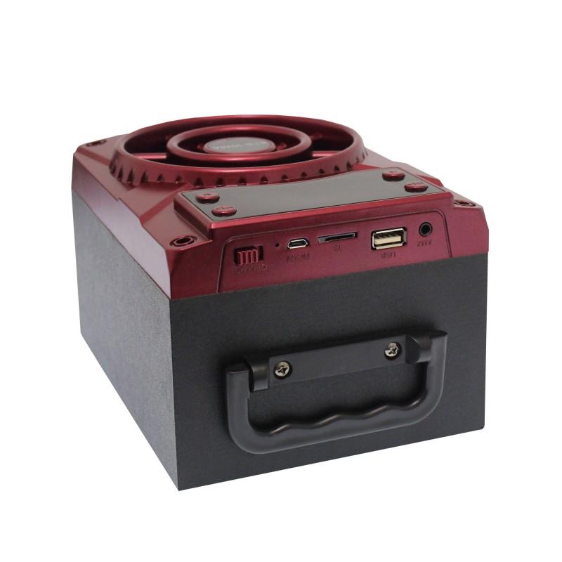 Ασύρματο Bluetooth φορητό ηχείο USB/Micro SD/AUX με ενσωματωμένο δέκτη FM κόκκινο KTS-1028
