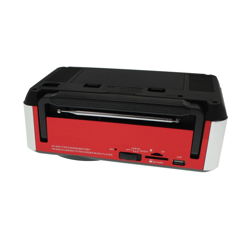Φορητό ραδιοφωνάκι ψηφιακό ρολόι Recorder USB/SDcard - FM Radio -  Speaker FP-910rc Remote Control κόκκινο OEM Ραδιοφωνάκια ee878