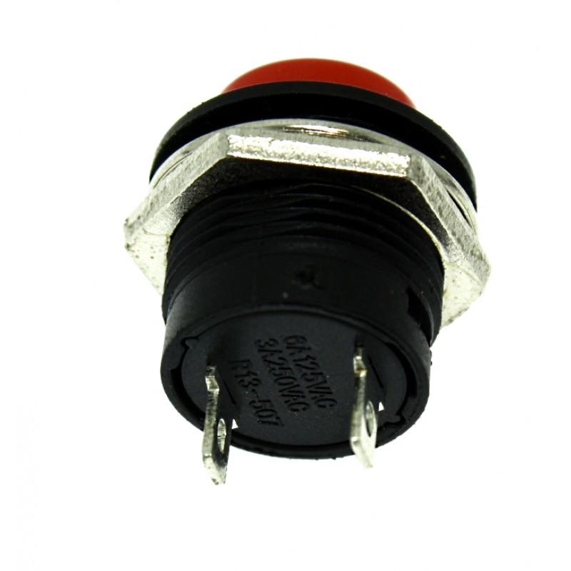 Αδιάβροχος διακόπτης button εντολής (κόρνα / εκκίνηση κινητήρα) κόκκινο OEM Διακόπτες ee4018