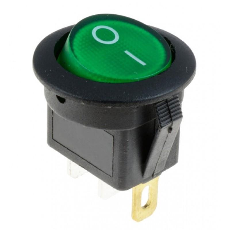 Διακόπτης On/Off 12V 16A (max) 3 pins πράσινο OEM Διακόπτες ee4025