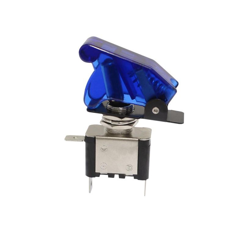 Διακόπτης αεροπορικού τύπου On/Off 2 pins 12V 20Α με μπλε LED ΟΕΜ