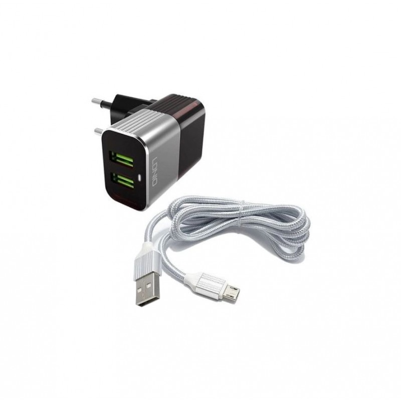 Φορτιστής πρίζας με 2 θύρες USB LDNIO A2206 Για κινητά ee4061