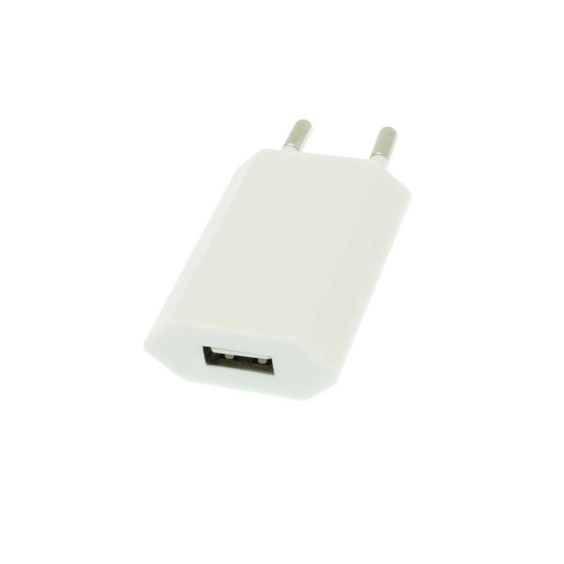 Αντάπτορας ευρωπαϊκής πρίζας με έξοδο USB λευκός OEM