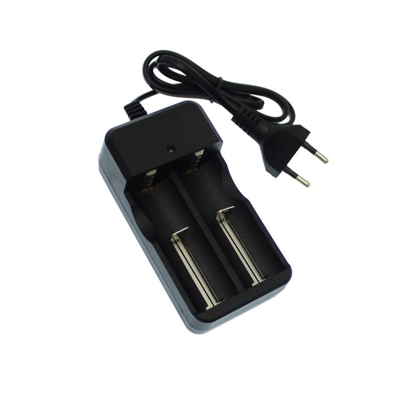 Φορτιστής διπλός dual για μπαταρίες 16340/26650/18650/14500 4.2V 1000mAh OEM