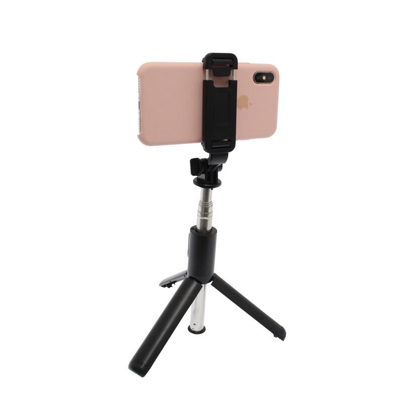 2 σε 1 Bluetooth Τρίποδο και Selfie stick 101cm μαύρο Q01