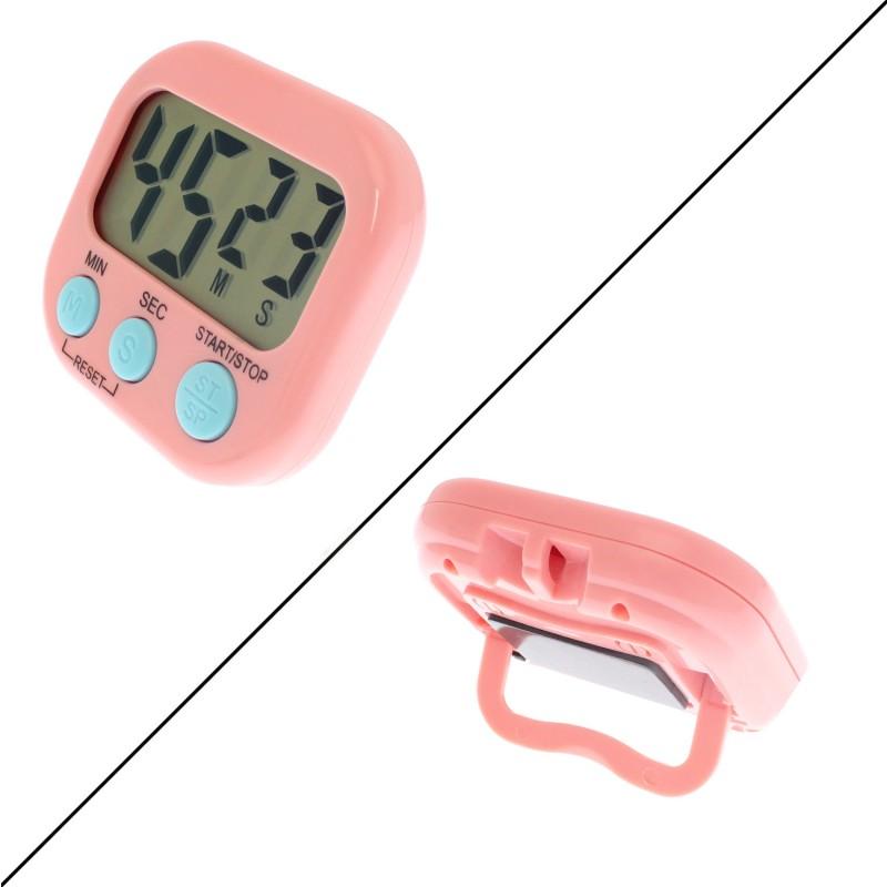 Ψηφιακό χρονόμετρο αντίστροφης μέτρησης με μαγνήτη για κουζίνα ροζ OEM