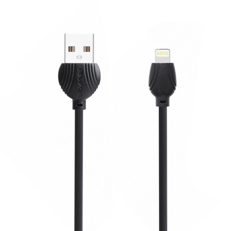 Καλώδιο γρήγορης φόρτισης 1m USB σε Lightning μαύρο CL-63 Awei