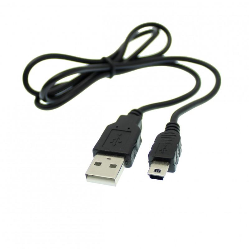 Καλώδιο 50cm USB 2.0 σε Mini USB μαύρο OEM