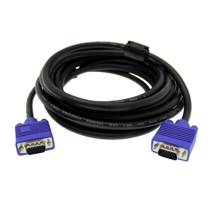 Καλώδιο επέκτασης 5m VGA αρσενικό σε VGA αρσενικό 15 PINS OEM