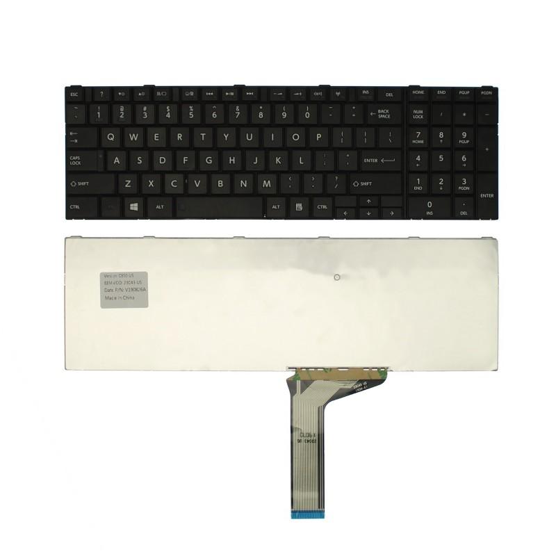 Πληκτρολόγιο Toshiba Satellite C850 C855D L850 L850D P850 L855 L855D L870 L870D US μαύρο OEM