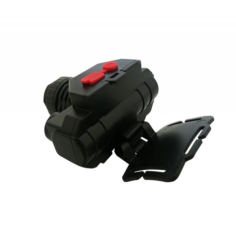 LED COB Επαναφορτιζόμενος φακός κεφαλής υψηλής φωτεινότητας με 3 λειτουργίες μαύρος OEM LED Gadget ee3341