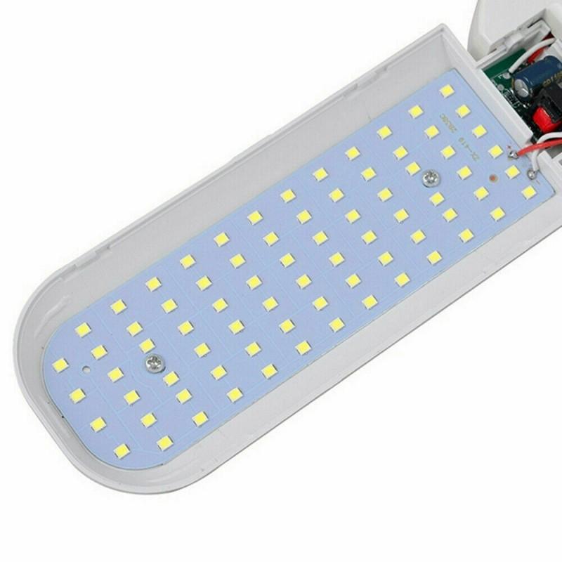 LED Αναδιπλούμενη λάμπα οροφής PC σε σχήμα ανεμιστήρα E27 45W 220V 4000LM 6500K 32 x 9cm OEM