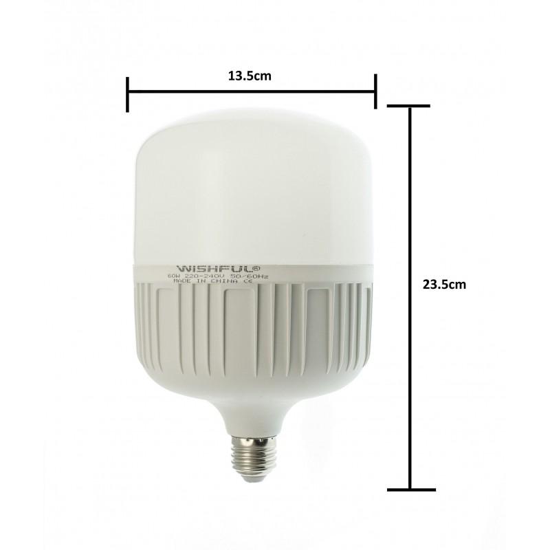 Λάμπα LED E27 60W 220V 5400LM 6500K T135