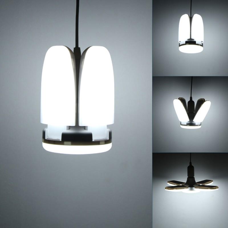 LED πτυσσόμενο φωτιστικό οροφής PC σε σχήμα ανεμιστήρα 60W 6000LM E27 6000K cool white 35 x 35 x 12cm BX-60 ΟΕΜ