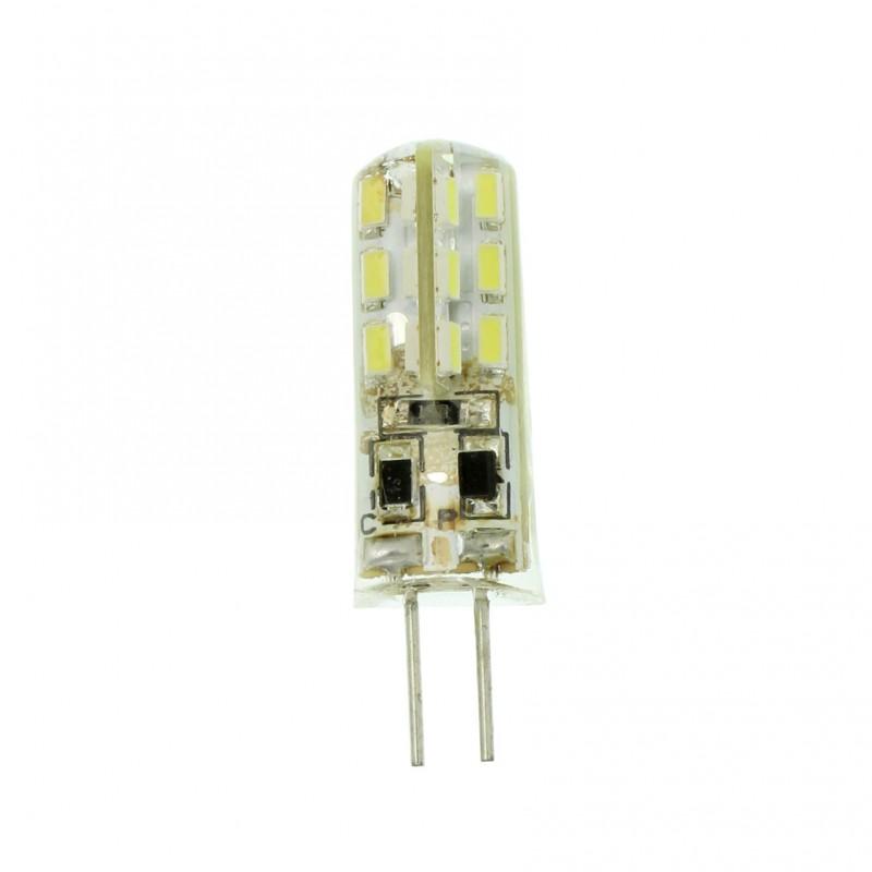 G4 LED dimmable σιλικόνης 12V 1.5W 120LM 24 SMD ψυχρό λευκό 6000K OEM