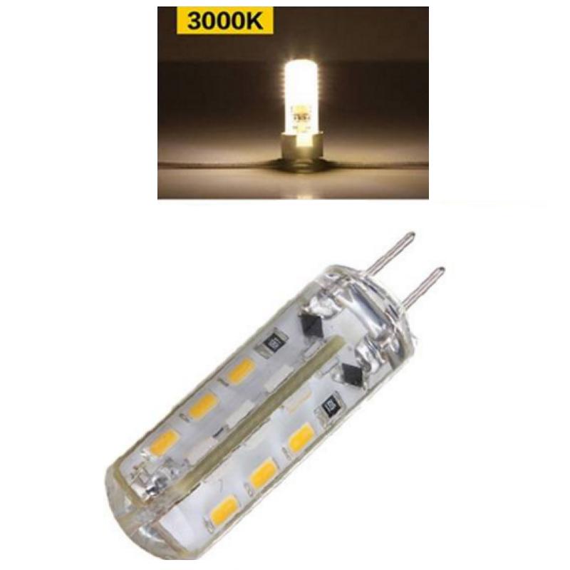 G4 1.5W 12V DC LED σιλικόνης dimmable 24 SMD warm white 110 lumens OEM 12v ee1916