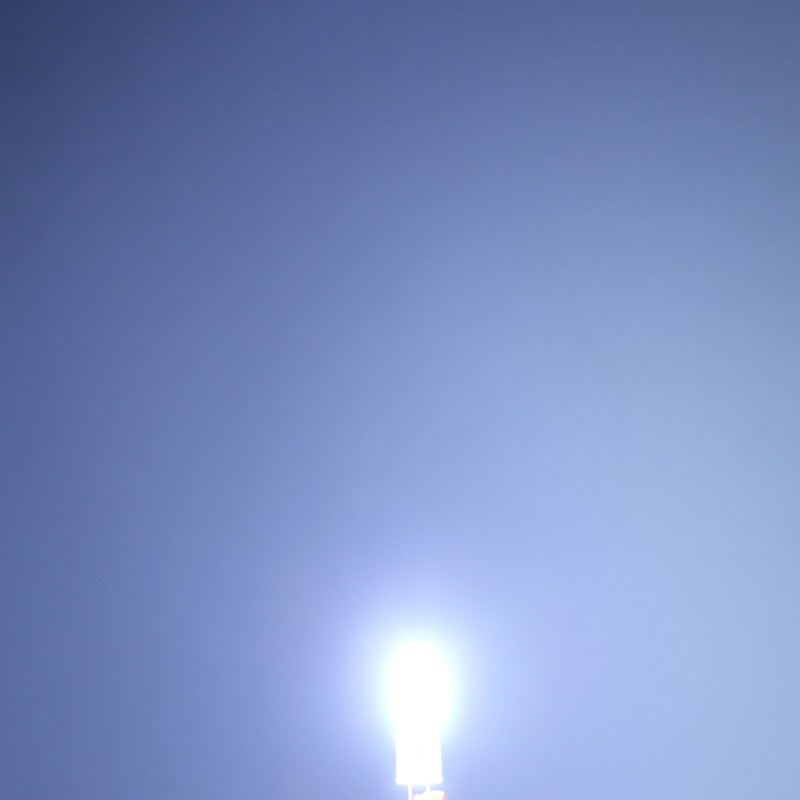 G4 LED σιλικόνης 12V 5W 2 COB ψυχρό λευκό 6000K OEM