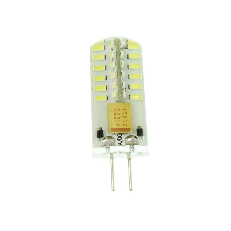 G4 LED dimmable σιλικόνης 12V 5W 480LM 48 SMD ψυχρό λευκό 6000K OEM