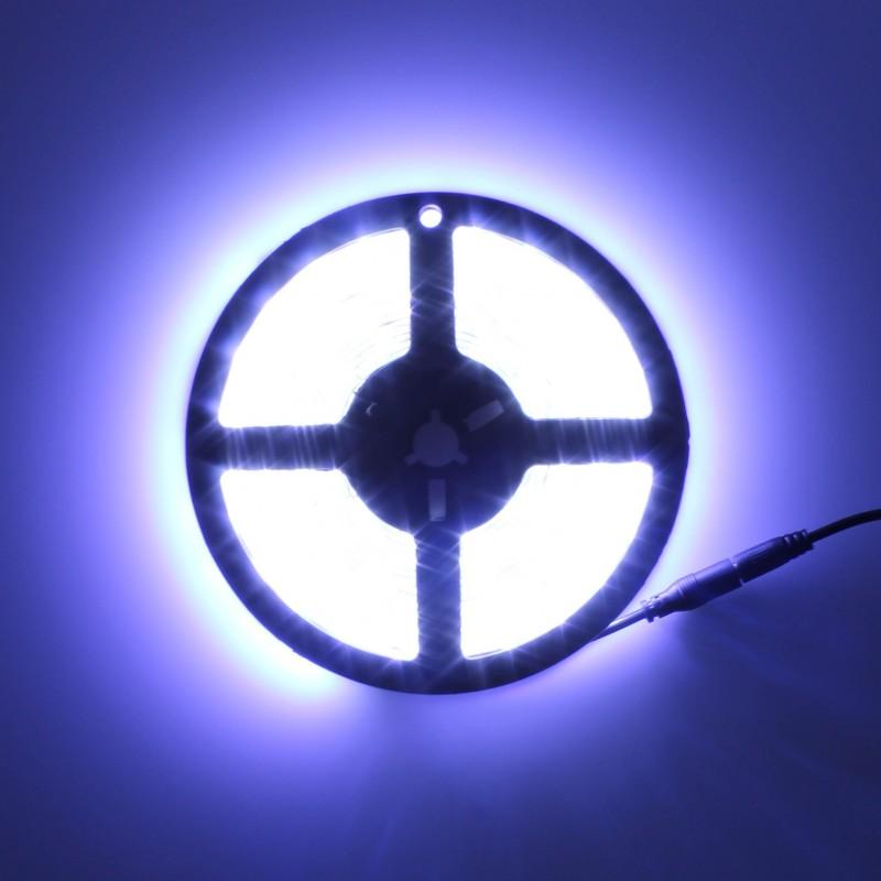 LED ταινία-strip 5m 12V 300 SMD 5050 ψυχρό λευκό 6000K αυτοκόλλητη IP65 OEM