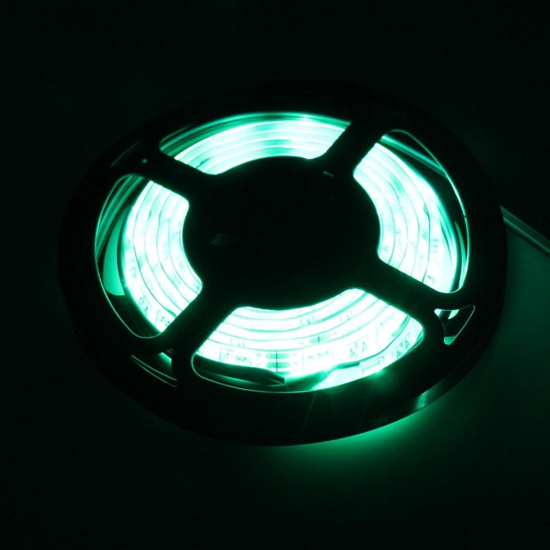 LED ταινία-strip USB 1m RGB αδιάβροχη σιλικόνης με ταινία διπλής όψεως OEM PC led ee2429