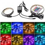 2 Χ 0.5Μ LED ταινία-strip USB RGB αδιάβροχη σιλικόνης με ταινία διπλής όψεως OEM PC led ee2440