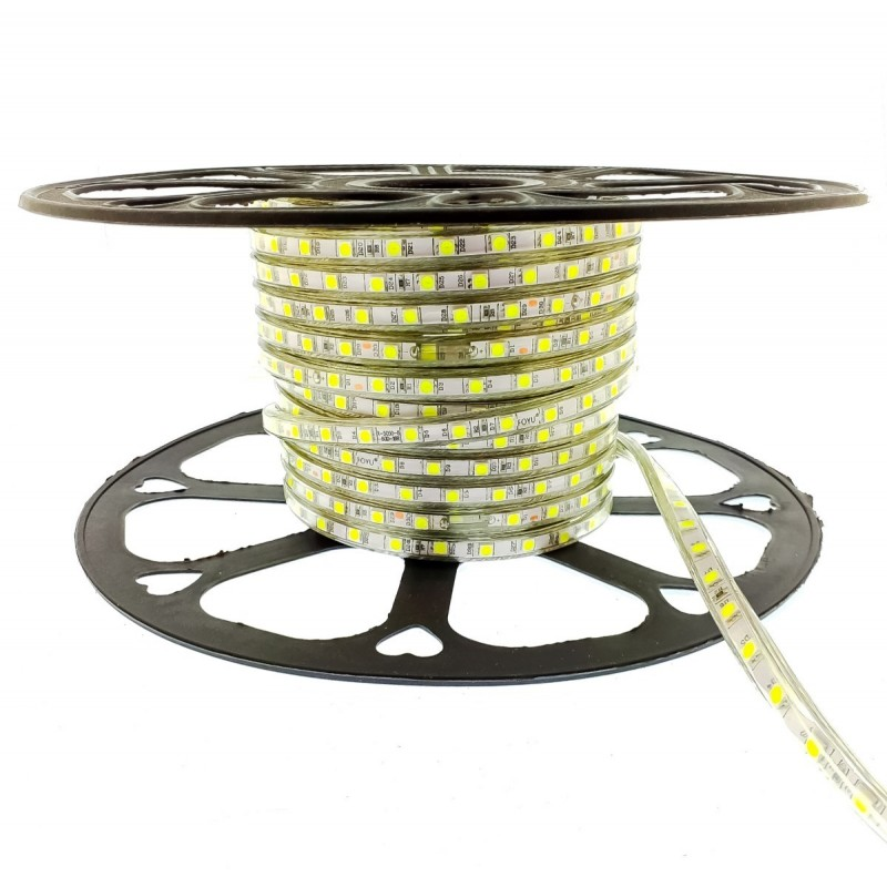 LED ταινία strip αδιάβροχη 1m-100m 5050 cool white 220V 60 smd OEM LED ταινίες ee2650