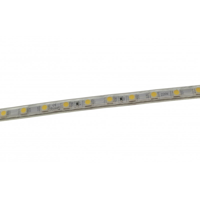 LED ταινία strip αδιάβροχη 1m - 100m 5050 warm white 220V 60 SMD OEM LED ταινίες ee2765