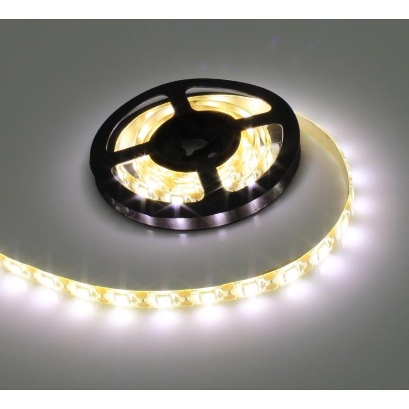 LED ταινία-strip 5050 USB 1m 4.8W warm white αδιάβροχη σιλικόνης με ταινία διπλής όψεως 3500K OEM PC led ee2961