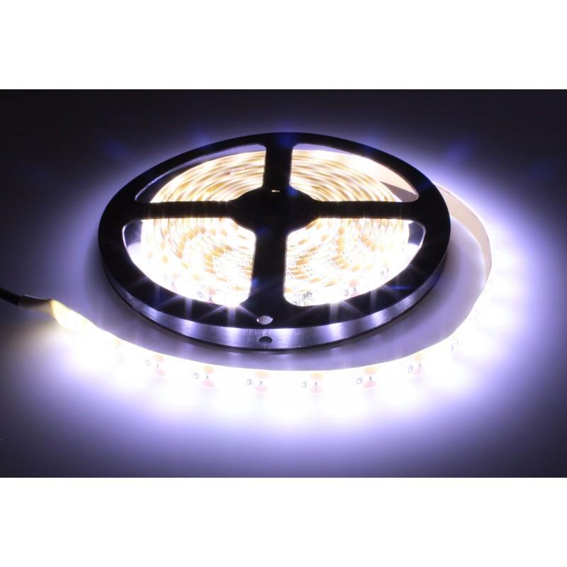 LED ταινία-strip 5050 USB 5m 24W white αδιάβροχη σιλικόνης με ταινία διπλής όψεως 6000K OEM PC led ee2969