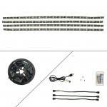 LED ταινία-strip 2m (4 x 50cm) 5V 60 SMD 5050 RGB αυτοκόλλητη IP65 με USB και τηλεχειριστήριο για τηλεόραση OEM
