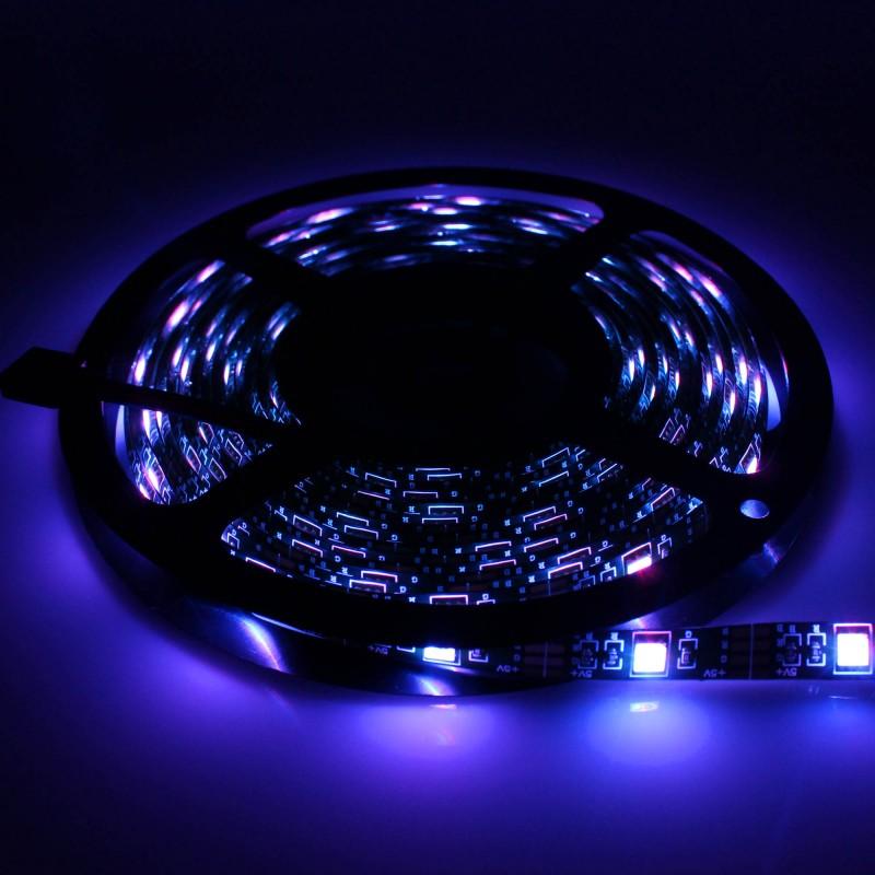 LED Ταινία-strip Smart WiFi 5m 5V 150 SMD 5050 RGB αυτοκόλλητη αδιάβροχη IP65 USB OEM