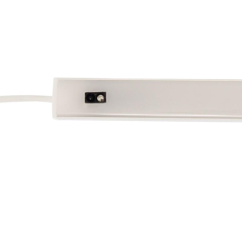 LED μπάρα φωτιστικό ντουλάπας USB 5V 5W με αισθητήρα κίνησης χεριού 3000/4500/6000Κ ασημί 50cm RiXME OEM