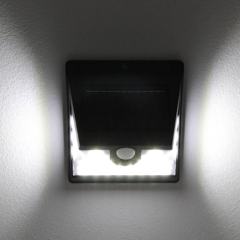 LED Ηλιακό φωτιστικό εξωτερικού χώρου 40 SMD πλαστικό με ηλιακό panel και αισθητήρα κίνησης 6000K IP65 Q-L427 Andowl