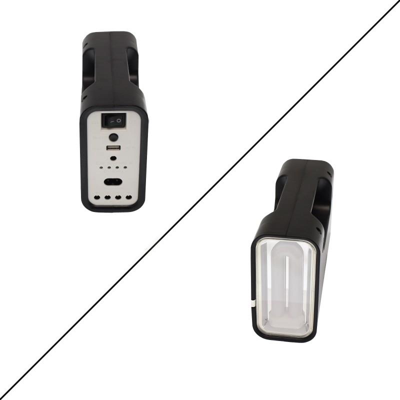 Ηλιακό σύστημα φωτισμού με πάνελ, μπαταρία/φακό, 3 x λαμπτήρες LED USB καλώδιο φόρτισης με 5 βύσματα GDLITE 1