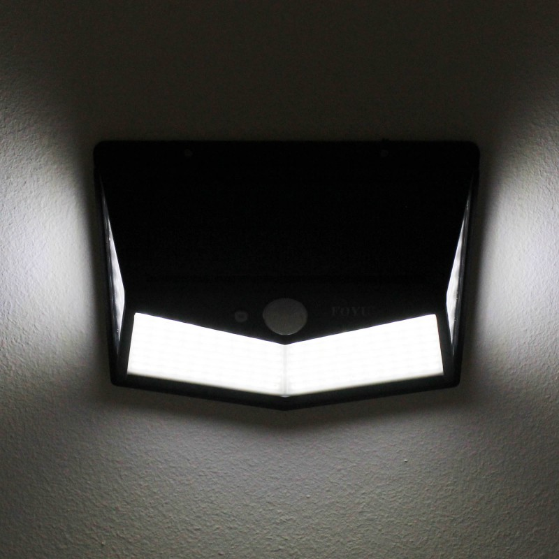 LED Ηλιακό φωτιστικό εξωτερικού χώρου 212 SMD πλαστικό με ηλιακό panel 30W και αισθητήρα κίνησης 2700LM 6500K IP65 FO-TA002 FOYU