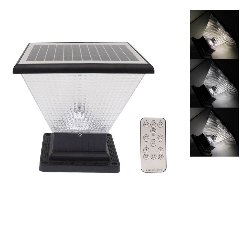 LED Ηλιακό φωτιστικό δαπέδου εξωτερικού χώρου 5.5W 6V με ηλιακό panel, τηλεχειριστήριο και 3 διαφορετικούς φωτισμούς TY-CR-ZTD20-1003 RIXME