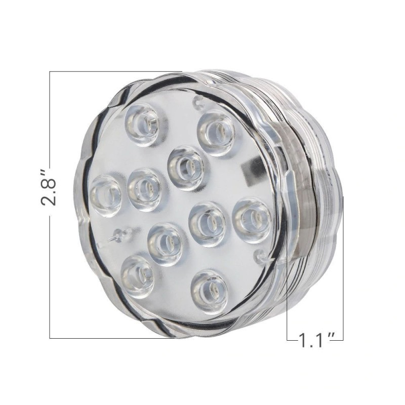 Mini LED υποβρύχιο διακοσμητικό φωτιστικό RGB με 10 SMD OEM LED Gadget ee3581