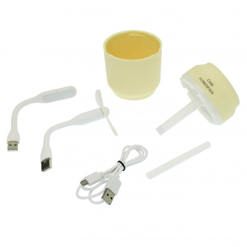 3 σε 1 ηλεκτρικός διαχυτής αρώματος και υγραντήρας με ανεμιστήρα και λαμπτήρα 200mL με LED φωτισμό κίτρινο ΟΕΜ