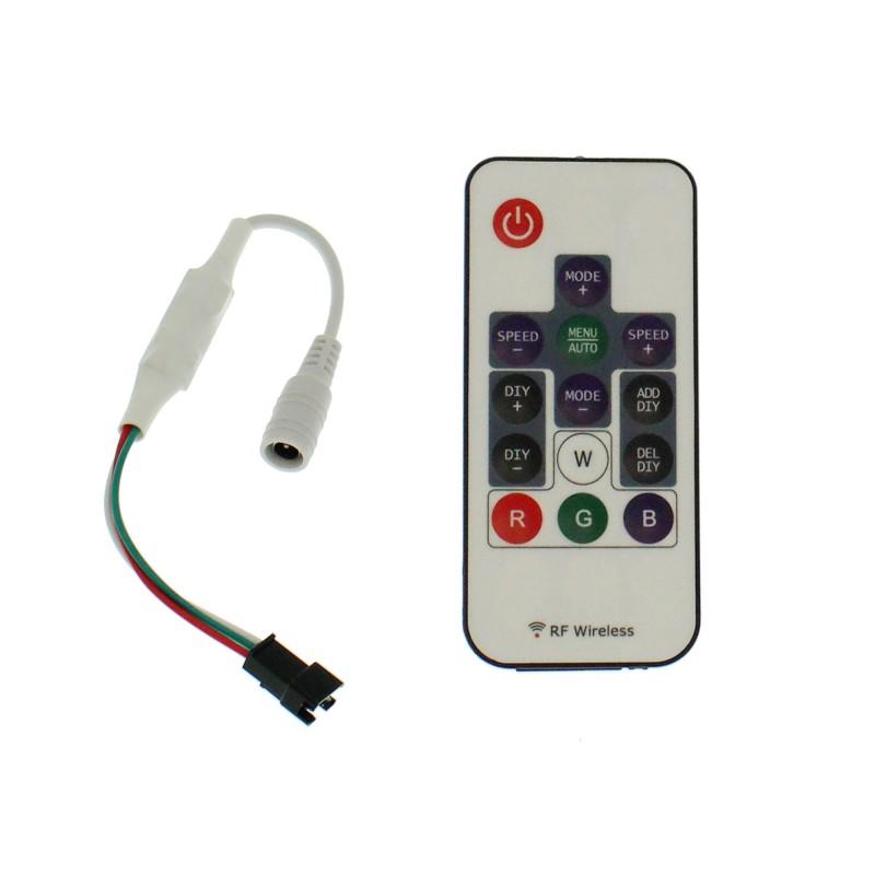 Ασύρματο RF controller-dimmer για LED ταινίες RGB με 358 λειτουργίες 5-24V LED2017-14 KEY OEM