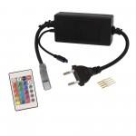 Ασύρματο χειριστήριο με τροφοδοτικό για RGBW LED ταινίες 220V με dimmer 16 χρώματα OEM